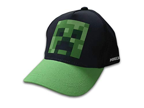 Minecraft Mojang Basecap (54, schwarz/grün)