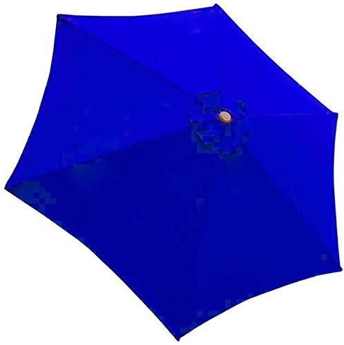 LYDIANZI Sombrilla De Jardín Sombrilla 6 Varillas Sombrilla De Patio Jardín Al Aire Libre Playa Impermeable Cubierta De Protección Solar Sombrilla De Patio Cubierta De Repuesto Para Toldo (Color:Azul)