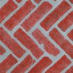 Herringbone Brick Wall, Patio and Floor Stencil