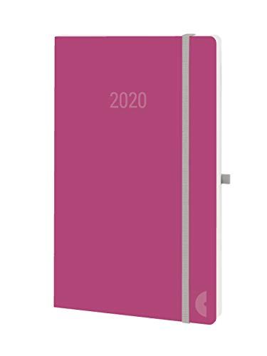 Chronoplan 50980 Buchkalender Kalendarium 2020 (A5 Softcover, Wochenplaner (135x210mm, 1 Woche auf 2 Seiten)) red rose