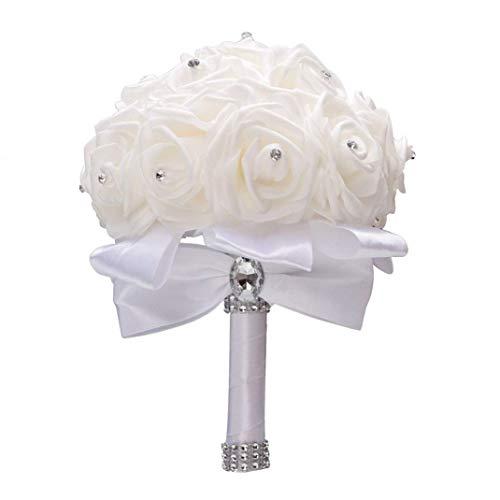 Nanxin Romantico Bouquet da Sposa,Bouquet di Cristalli Scintillanti, Damigella d'Onore del Fiore