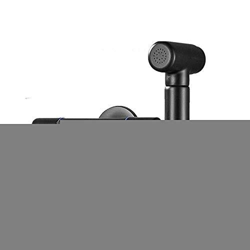 BJLWTQ Conjunto higiénico Bidé Manguera del rociador de Ducha WC pulverizador Kit Mejor Sanitaria Personal - Doble Uso de Lavado de Doble Grifo de Salida de la máquina Negro