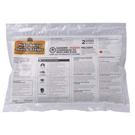 Mite Away Quick Strips for The use of Varroa Mites on Honey Bees  2 Dose  4 Strips