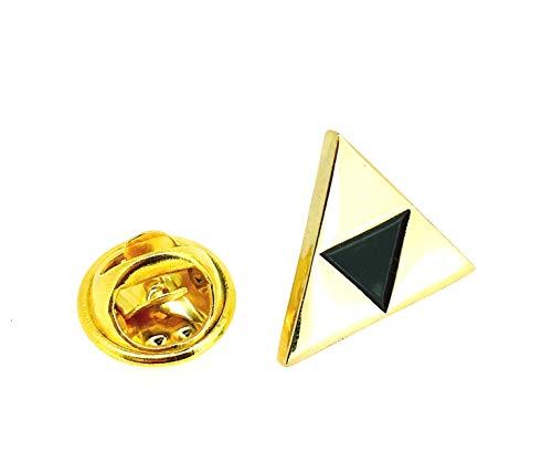 Gemelolandia | Pin de Solapa Trifuerza Zelda Dorado | Pines Originales Para Regalar | Para las Camisas, la Ropa o para tu Mochila | Detalles Divertidos