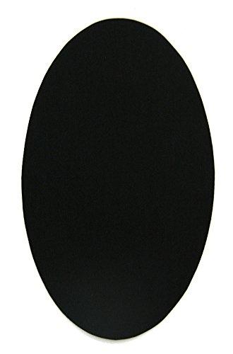 6 Patches zum aufbügeln farbe Schwarz. Bügeleisen Reparatursatz 16 x 10 cm. RP7
