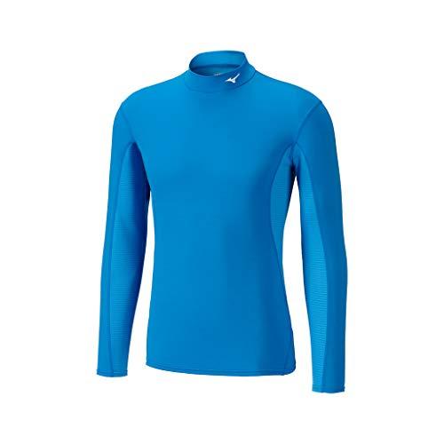 Mizuno BT Mid Weight L/S H/Neck, T-Shirt de Course pour Homme XL Blu (Blue)