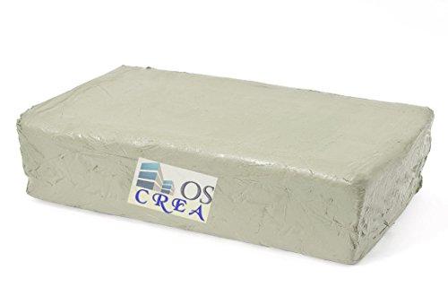 OSCrea Töpferton fein schamottiert 0.5 Weiss, 10kg, be Creative by