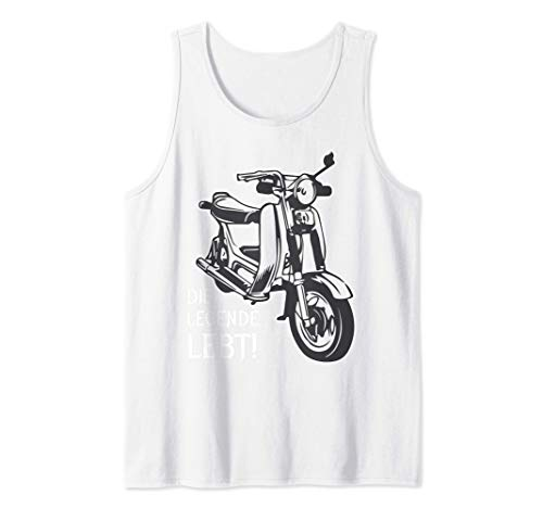 Alte Schule Mopedfahrer Simson-Sr50 Tank Top