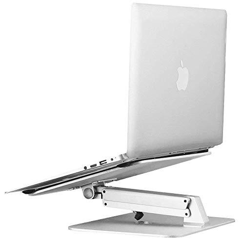 Mettime Computer Soporte, Fresco Computer Laptop Ajustable Soporte de Aluminio Soporte, Brazo, Laptop Macbook
