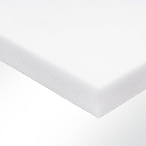 Basotect Schaumstoff B weiß (LxB) 100x50cm Stärke 2-10cm - Akustikschaum zur wirksamen Nachhallreduzierung in Innenräumen