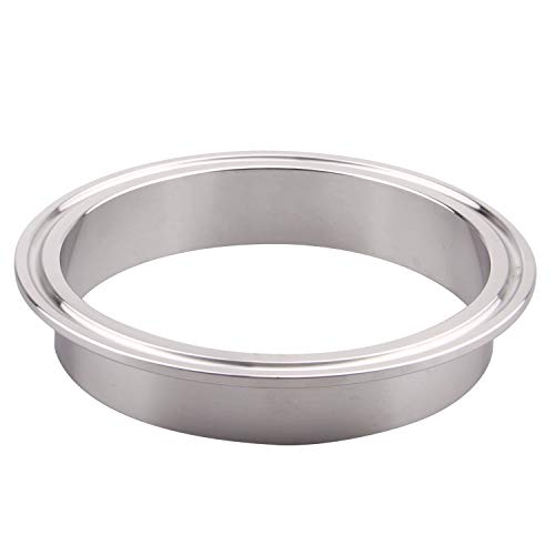 DERNORD Stainless Steel 304 Sanitary Fitting, Long Weld Clamp Ferrule Fits Tri Clamp (102MM/4 Tube OD)