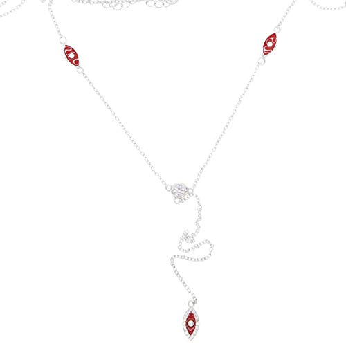 sufengshop sieraden van Moda nagellak rood maloog vrouwen Lariat Delicata ketting Y lange ketting