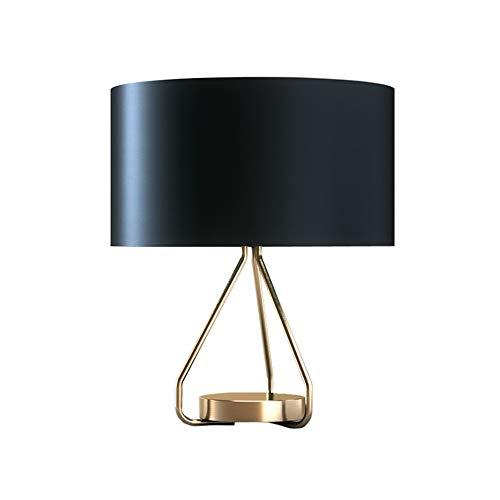 Lampada da tavolo a vento industriale retrò, lampada da tavolo a LED nordica Lampada da tavolo in tessuto di moda Lampada da lettura in ferro battuto Illuminazione da comodino della camera da letto