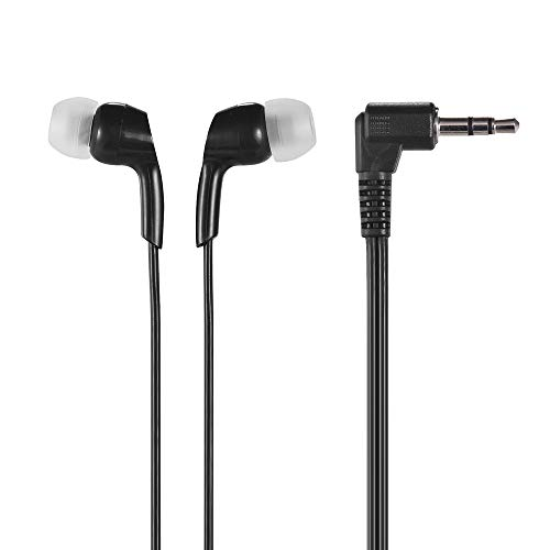 Andoer in-Ear Headphones Wired Earphones Earbuds 3.5mm Plug for Smartphone PC Laptop Tablet Black