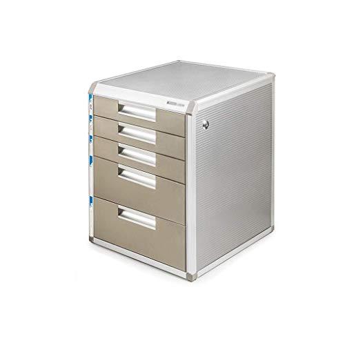 Classeur avec tiroir Verrouillables de stockage de données en alliage d'aluminium Boîte de table PC de bureau Armoire à tiroirs Landslide Voie Petit White Label (31.5X35X29.8CM, 31.5X35X39.8CM) Fourni