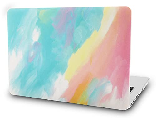 KECC Laptop Case Compatible with MacBook Air 13' Retina (2021/2020/2019/2018, Touch ID) Plastic Case Hard Shell Cover A2337 M1 A2179 A1932 (Watercolor Paint)