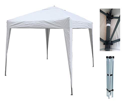 MCC® Gazebo Plegable Impermeable del Gazebo 2x2m, Tienda del pabellón con la Capa Protectora de Plata [NS] (Color Verde) (Blanco)