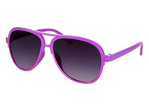 Alsino Sportliche Vintage Kinder Pilotenbrille Sonnenbrille Viper, Variante wählen:K-105 lila pink