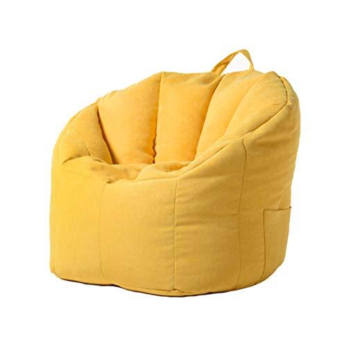 AGVER Sitzsack Für Erwachsene Und Kinder Keine Interne Füllung, Shell-Sofabezug Komfortables Rückenlehnendesign Trifft Auf Ergonomie,Gelb