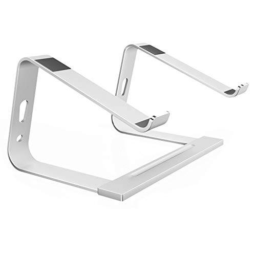 Recliner Ventilated Laptop Stand Aluminium Computer Holder Riser with Non-slip Silicone Adjustable Width Ergonomic Compatible with 11'' -17'' Tablets Notebook