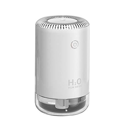 MANTFX Mini Difusor De Aire Portátil, Luz De Noche De Humidificador De Niebla Fresca USB, Filtro De Aire Tranquilo para Dormitorio, Vida, Oficina, Coche (Blanco)