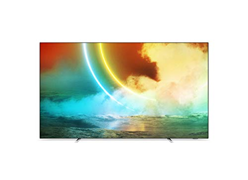 Philips Ambilight TV 65OLED705/12 65-Zoll OLED TV (4K UHD, P5 AI Perfect Picture Engine, Dolby Vision∙Atmos, HDR 10+, Sprachassistent, Android TV) Chrom (2021/2022 Modell)