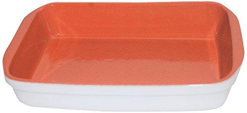 Amazing Cookware en Terre Cuite rectangulaire 32 cm x 22 cm Dish-Matt Blanc, en CÉRAMIQUE, Blanc Naturel avec à l'intérieur, 32 x 22 x 6 cm