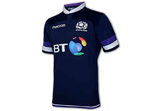 Macron SRU Schottland Authentic H Pro Shirt Scottish Rugby Union Jersey Trikot, Größe:XL