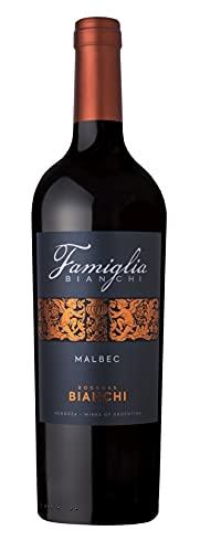 Famiglia Bianchi- Vino Tinto Malbec- Vino de Gran Cuerpo y Profunda Estructura- Producto Argentino Por Excelencia- Bodegas Bianchi- 75 Cl