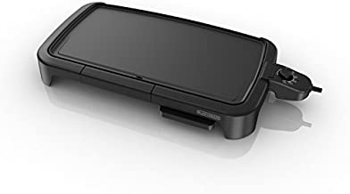BLACK+DECKER Family-Sized Electric Griddle with Warming Tray & Drip Tray, GD2051B