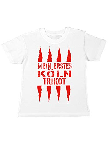 clothinx Mein erstes Köln Trikot Kinder T-Shirt Weiß Gr. 116