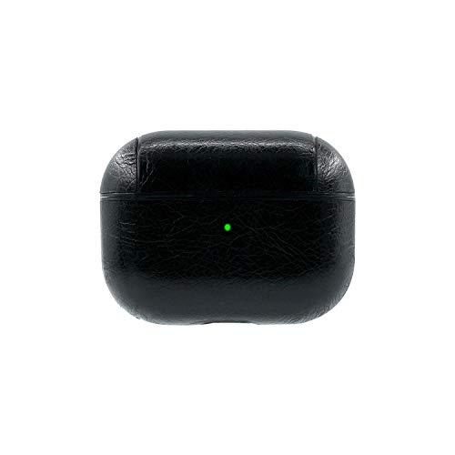 Para Apple para Air Pods Pro Earbud caja de carga de cuero PU para AirPods Pro caso EarPods cubierta para Airpod Pro Cover-Negro-
