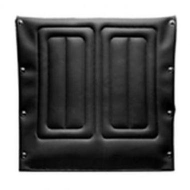 Invacare Back Upholstery, 18 Inch High x 18 Inch Wide, Embossed, Black