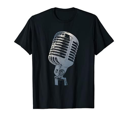 Micrófono vintage para cantantes, micrófono retro Camiseta