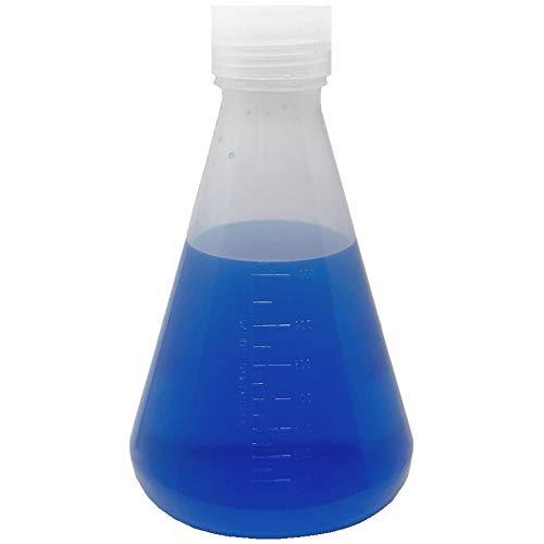 1000ml Plastic Erlenmeyer Flask with Screw Cap,...