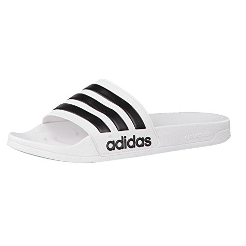 Adidas Adilette Shower, Herren Dusch- & Badeschuhe, Weiß (Footwear White/Core Black/Footwear White 0), 48.5 EU