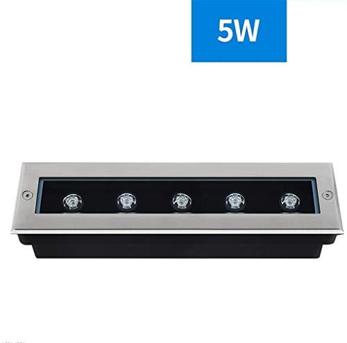 La Fuerte Presión Exterior Foco de suelo, LED Rectangular De Alto Brillo De La Lámpara De Proyección Impermeable (Size : 5W-Yellow light)
