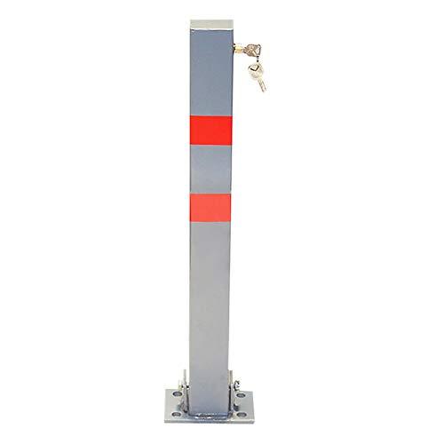 Barrera de aparcamiento de 65 cm, postes de aparcamiento plegables para aparcamiento y aparcamiento seguros, color rojo