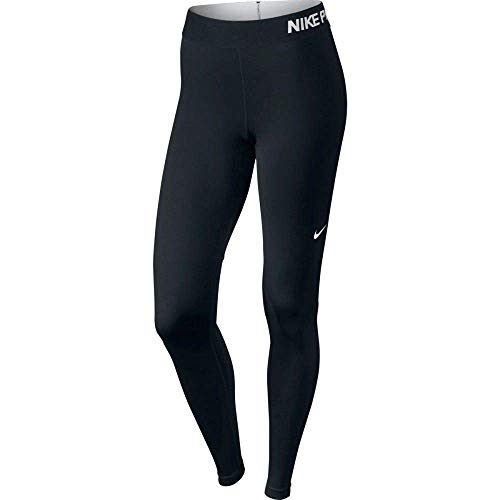 Nike Damen Pro Cool Trainings Leggings, Schwarz(Schwarz/weiß), L