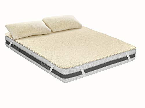 Funda de colchón Wolly Light de una capa Pure Merino Wool Wellness (1 cama y media)