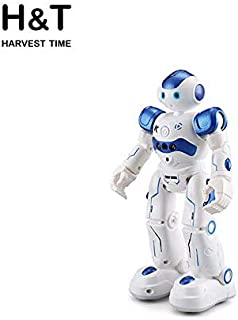 H&T HarvestTime Smart Robot Toy, Artificial Intelligence and Gesture Sensing Robot. Remote Control Rechargeable Robot.Gift for Boys and Girls Entertainment Companion (Blue)
