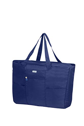 Samsonite Global Travel Accessories, Faltbare Einkaufstasche, 39 cm, Blau (Midnight Blue)