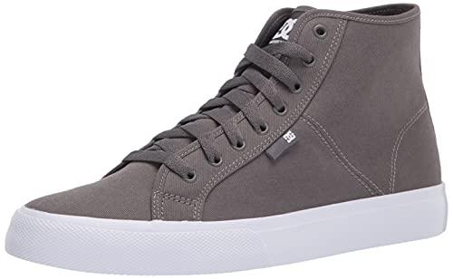 DC Men's Manual HI TXSE Skate Shoe, Grey, 11