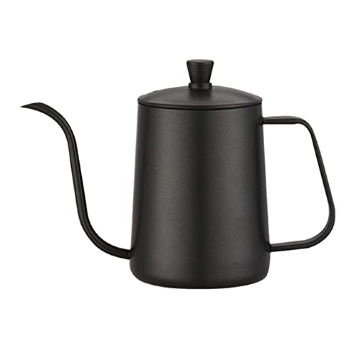 OKAYOU コーヒーポットステンレス製ハンドコーヒーポット蓋付きコーヒーティーポットノンスティックコーティングフードグレードグースネックドリップケトルスワンネック
