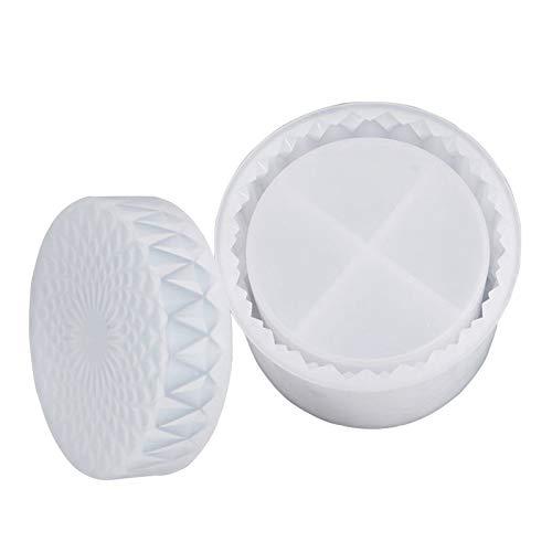 harayaa Caja de Almacenamiento de Joyas Molde de Resina Baratija de Silicona Molde de Fundición de Epoxi de Cristal DIY