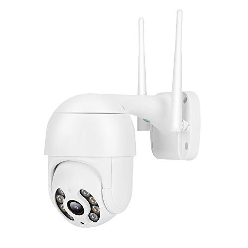 1080P Dual Light Sources Camera,110-240V Night Vision WiFi 1.5In IP66 PTZ Dome Security Camera,8 Lights Dome Security Camera,for Android/iOS(EU Plug)