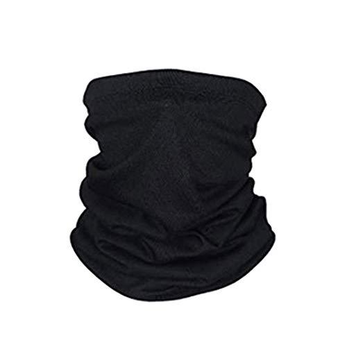 Bandana Multiuso Balaclava Tubular Proteção contra poeira UV Windproof Tube Neck Bandana Gorro Lenço Pesca Corrida Camping Ciclismo (Black)