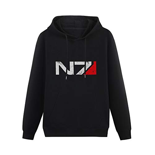 LINY Pullover Mass Effect N7 Xbox Playstation Game Console Video Series Cod Adolescent Hoodie Black M