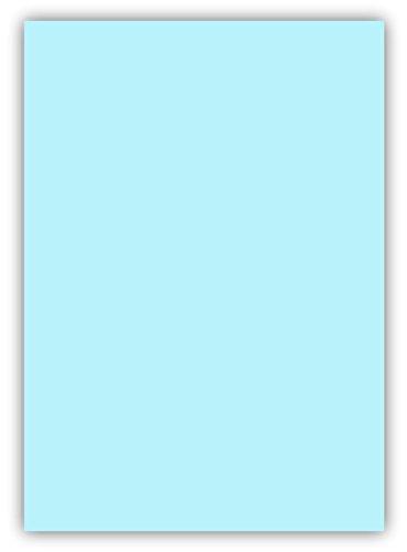 100 Blatt farbiges Premium Briefpapier Caribic Format DIN A5 ( 148 x 297 mm ) Farbe Briefbogen Blau Hellblau, Karibik Papier