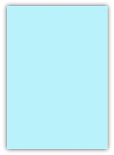 50 Blatt farbiges Premium Briefpapier Caribic Format DIN A4 ( 210 x 297 mm ) Farbe Briefbogen Blau Hellblau, Karibik Papier
